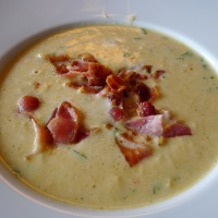 Blomkålsuppe med bacon
