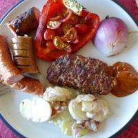 Kryddret kjøttdeig på grillen