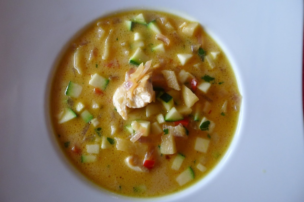 Tikka masala suppe med eple
