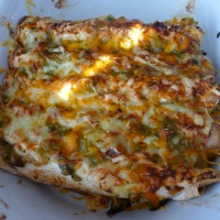 Enchiladas med grønn chilisaus