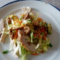 Salat med thaikylling og peanuttdressing