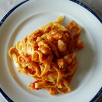 Prawn linguine alla Jamie Oliver
