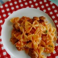 One Pot - pasta med kryddra pølse
