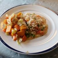 Risotto med ovnsbakte grønnsaker