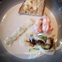 Sjøkreps med fennikel / agurksalat og dillmajones